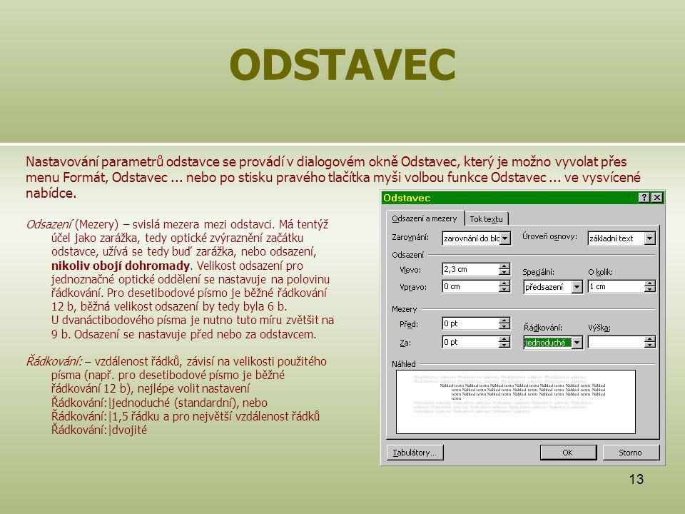 ODSTAVEC
