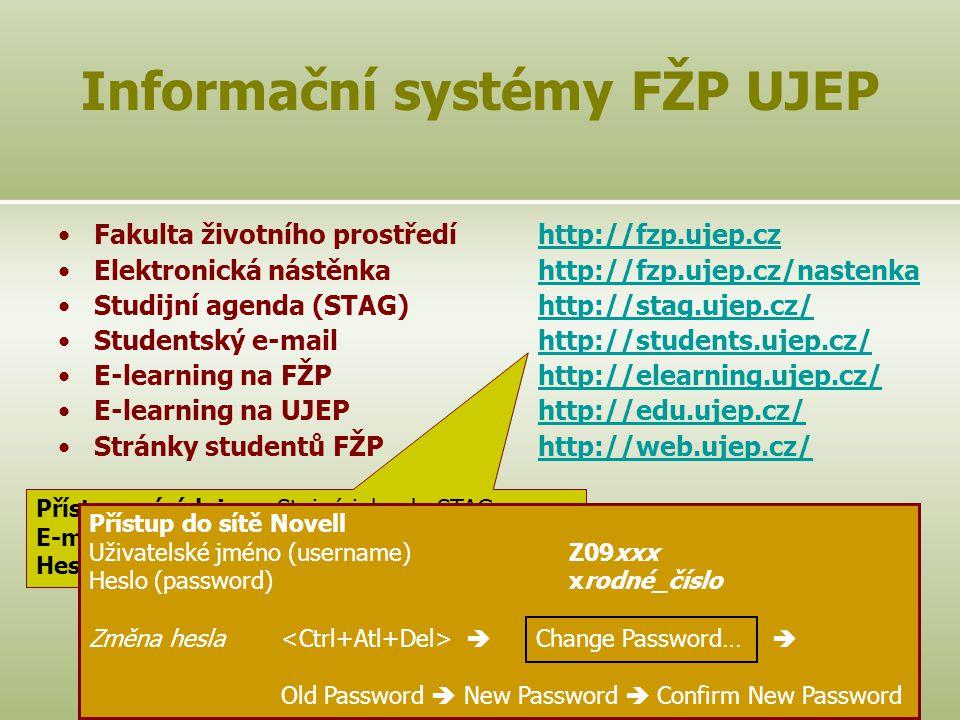 Informační systémy FŽP UJEP
