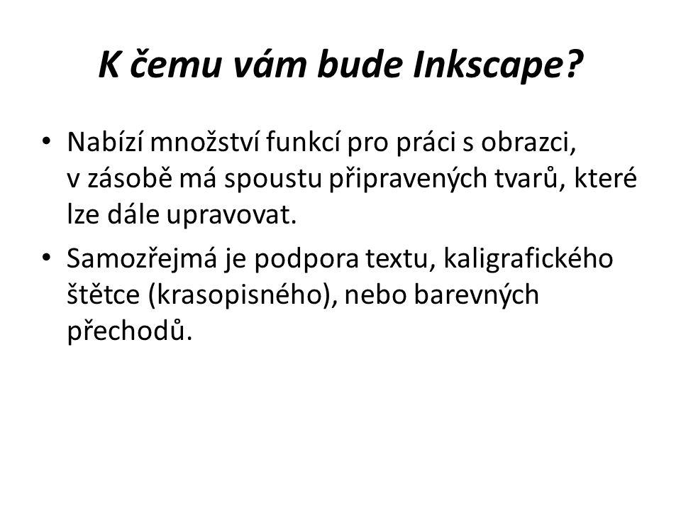 K čemu vám bude Inkscape