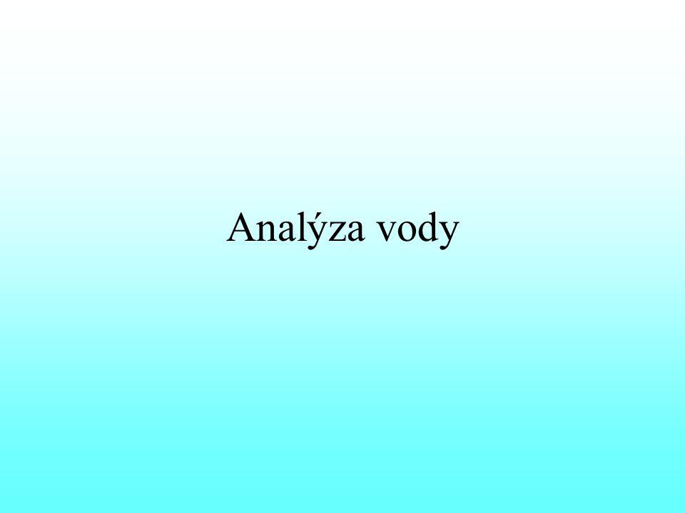 Analýza vody