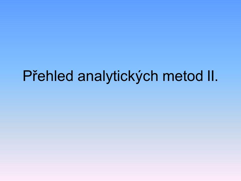 Přehled analytických metod II.