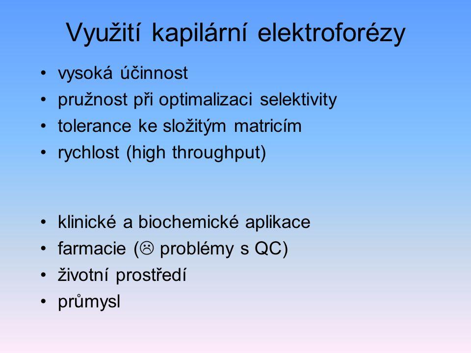 Využití kapilární elektroforézy