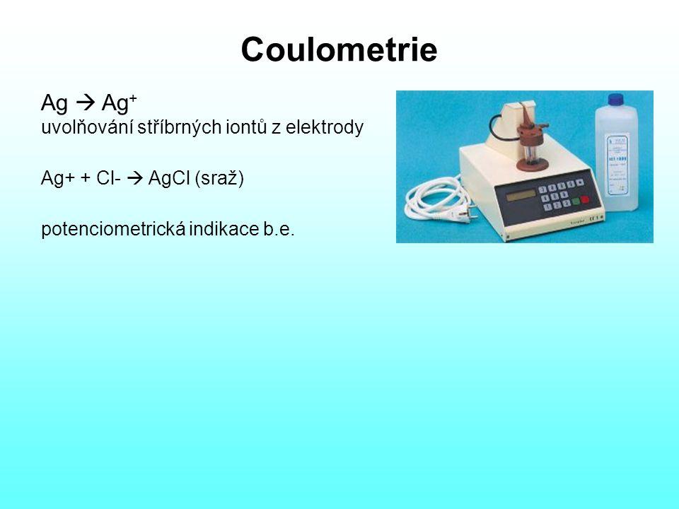 Coulometrie Ag  Ag+ uvolňování stříbrných iontů z elektrody