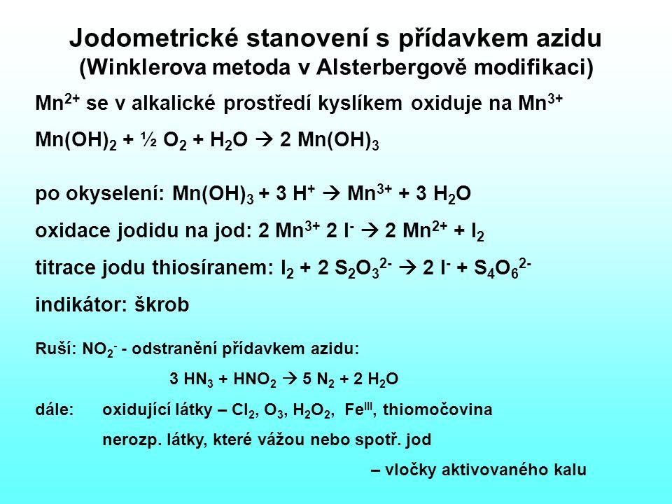 Jodometrické stanovení s přídavkem azidu (Winklerova metoda v Alsterbergově modifikaci)