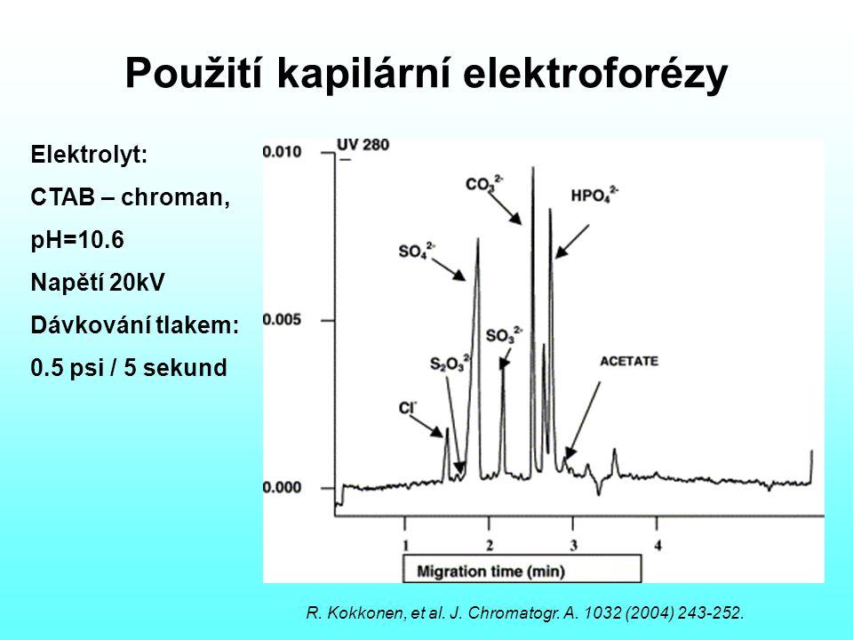 Použití kapilární elektroforézy