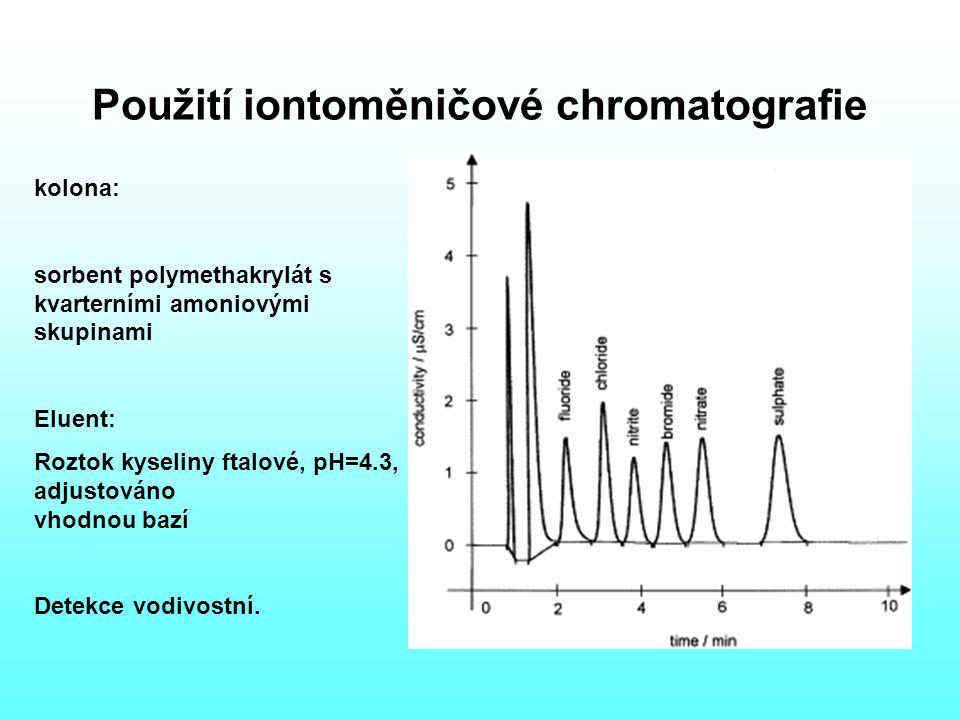 Použití iontoměničové chromatografie