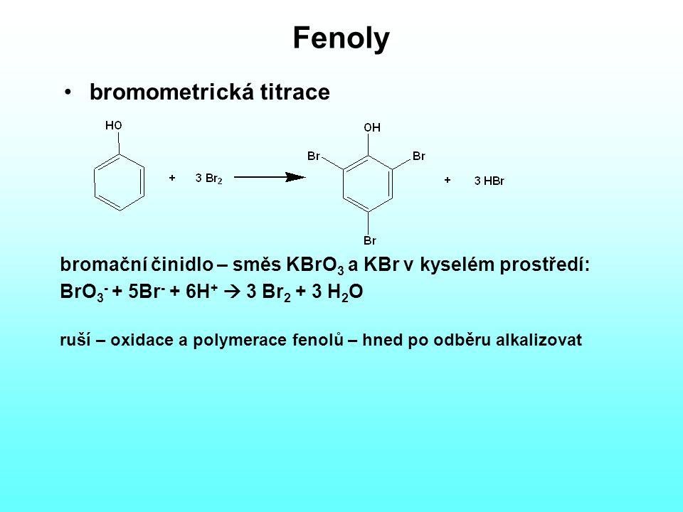 Fenoly bromometrická titrace