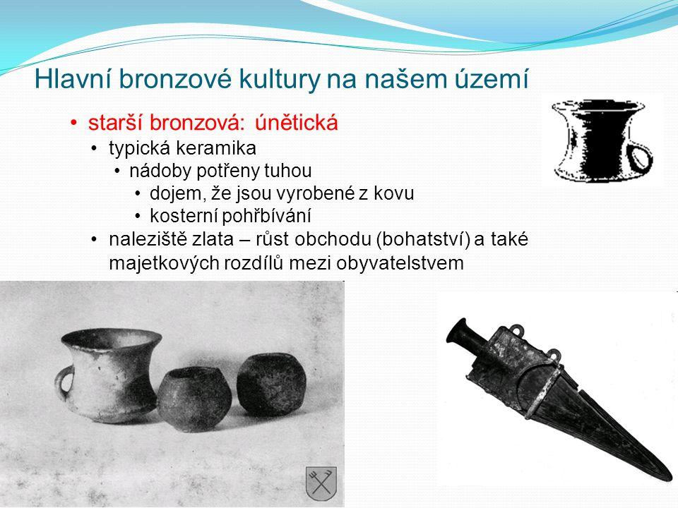 Hlavní bronzové kultury na našem území