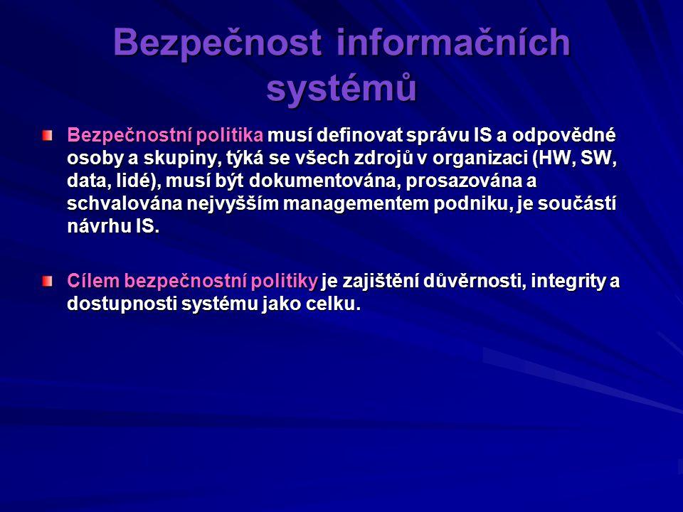 Bezpečnost informačních systémů