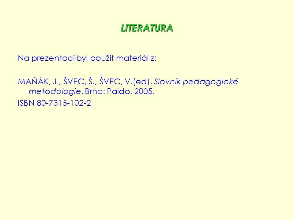 LITERATURA Na prezentaci byl použit materiál z: