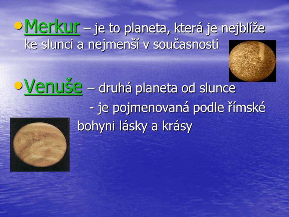 Venuše – druhá planeta od slunce