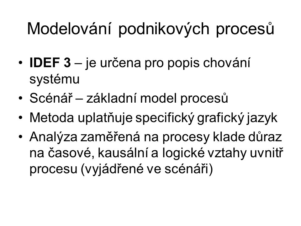 Modelování podnikových procesů