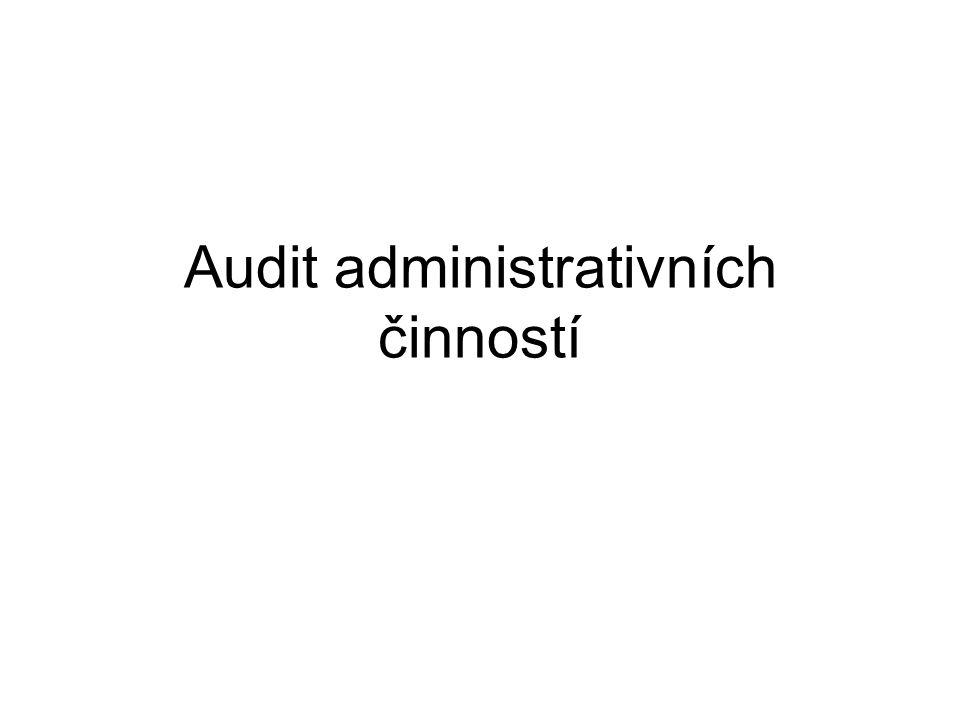Audit administrativních činností
