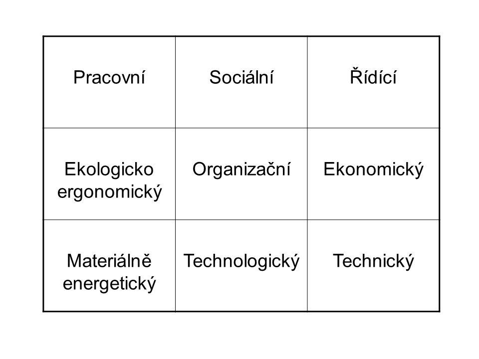 Ekologicko ergonomický Organizační Ekonomický