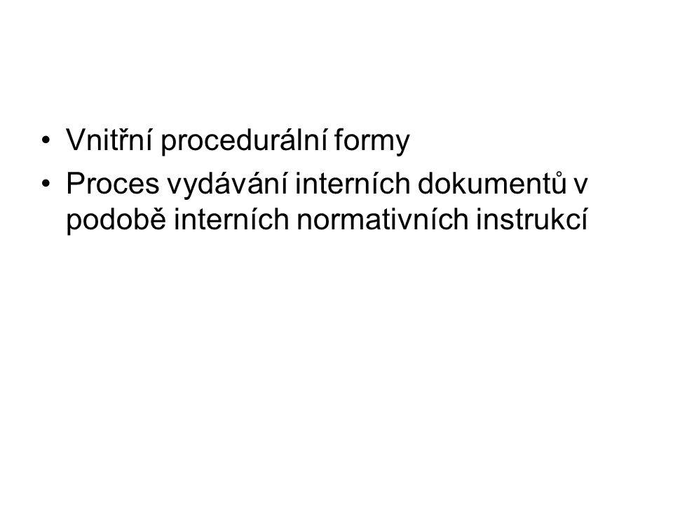 Vnitřní procedurální formy