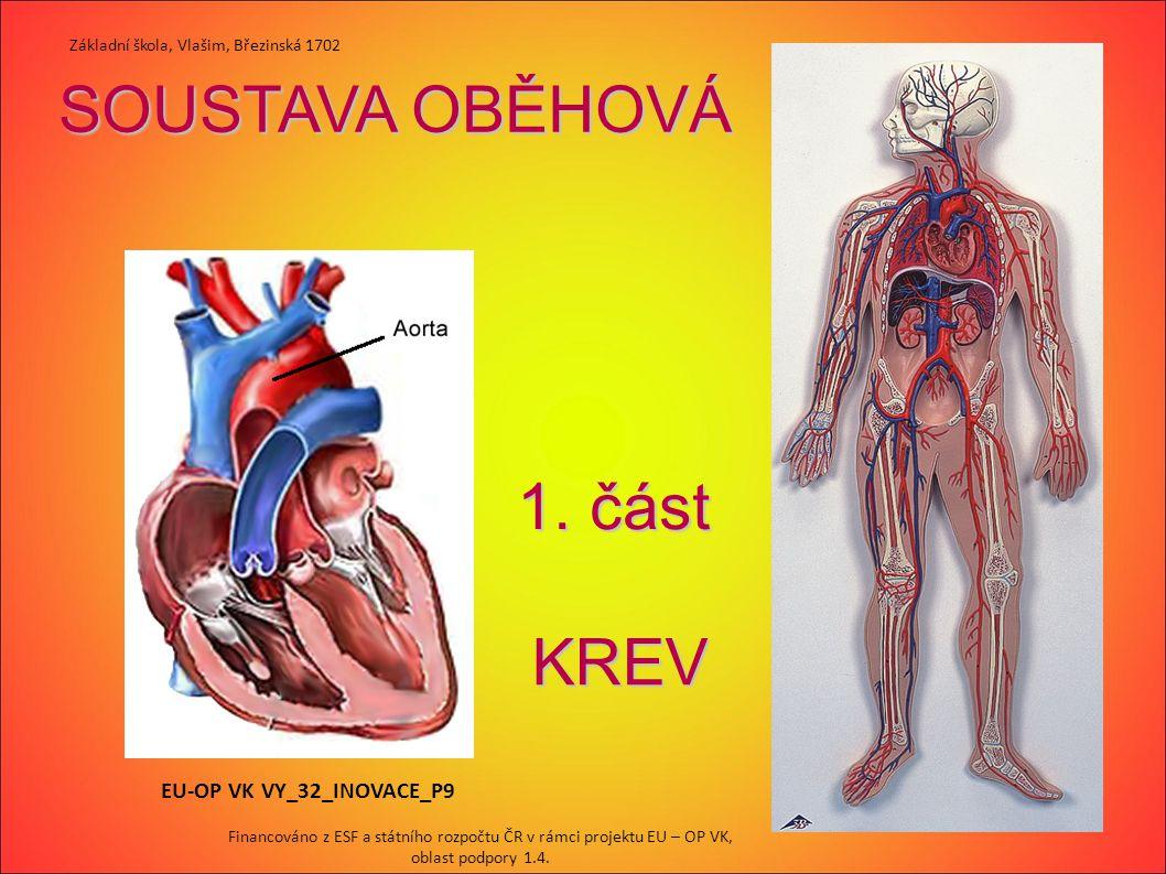 SOUSTAVA OBĚHOVÁ 1. část KREV EU-OP VK VY_32_INOVACE_P9