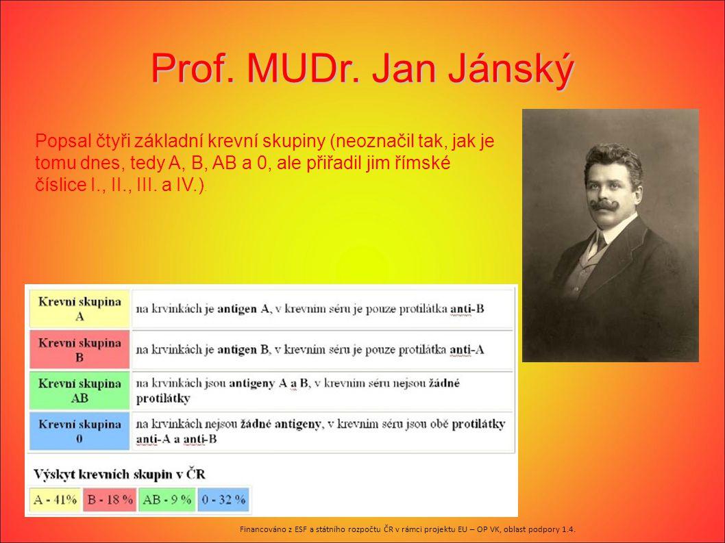 Prof. MUDr. Jan Jánský