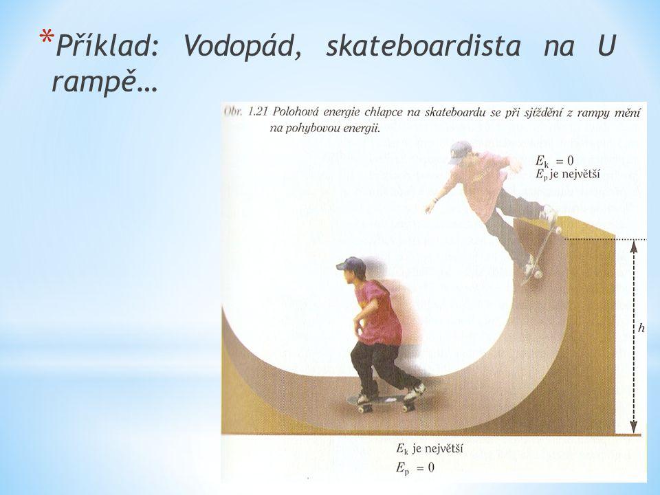 Příklad: Vodopád, skateboardista na U rampě…