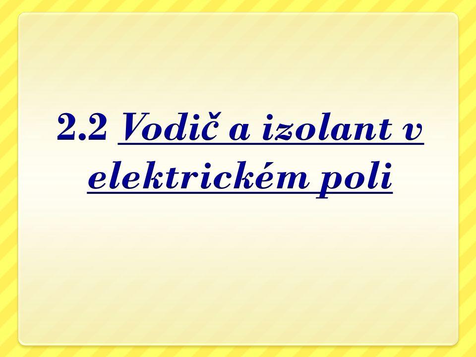 2.2 Vodič a izolant v elektrickém poli