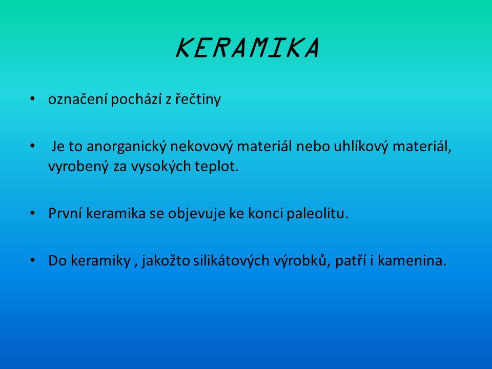 KERAMIKA označení pochází z řečtiny