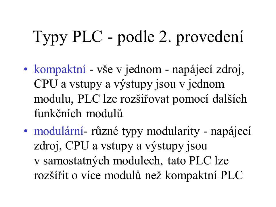 Typy PLC - podle 2. provedení