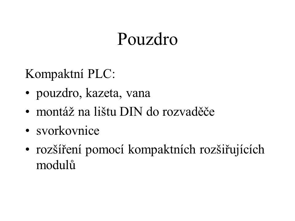 Pouzdro Kompaktní PLC: pouzdro, kazeta, vana