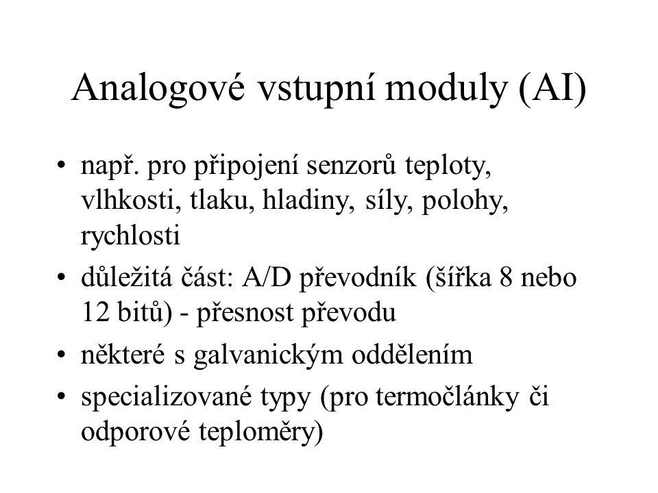 Analogové vstupní moduly (AI)