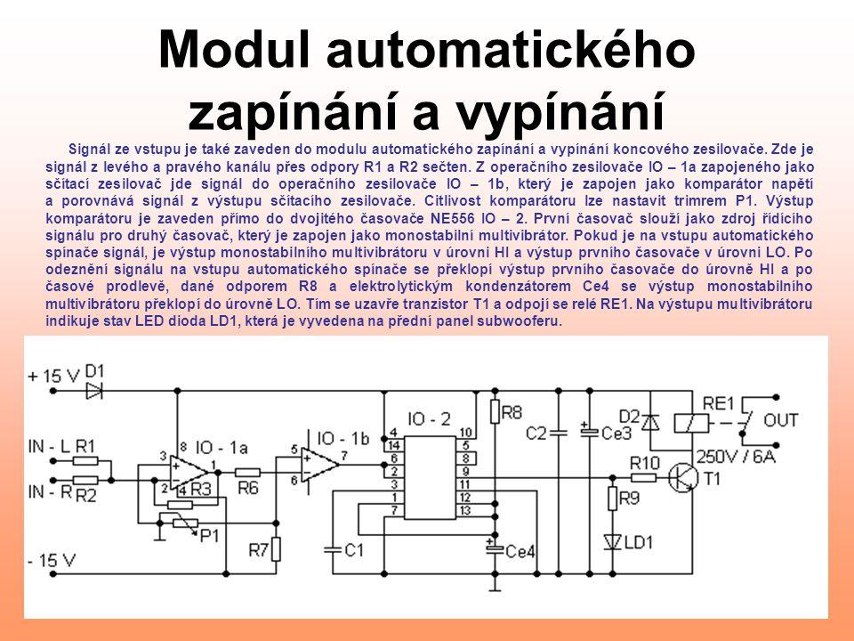 Modul automatického zapínání a vypínání