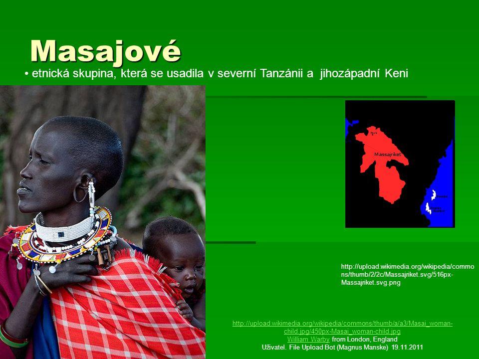 Masajové etnická skupina, která se usadila v severní Tanzánii a jihozápadní Keni.