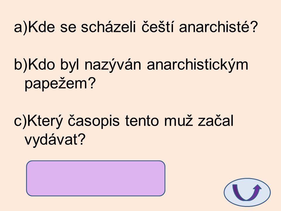 Kde se scházeli čeští anarchisté