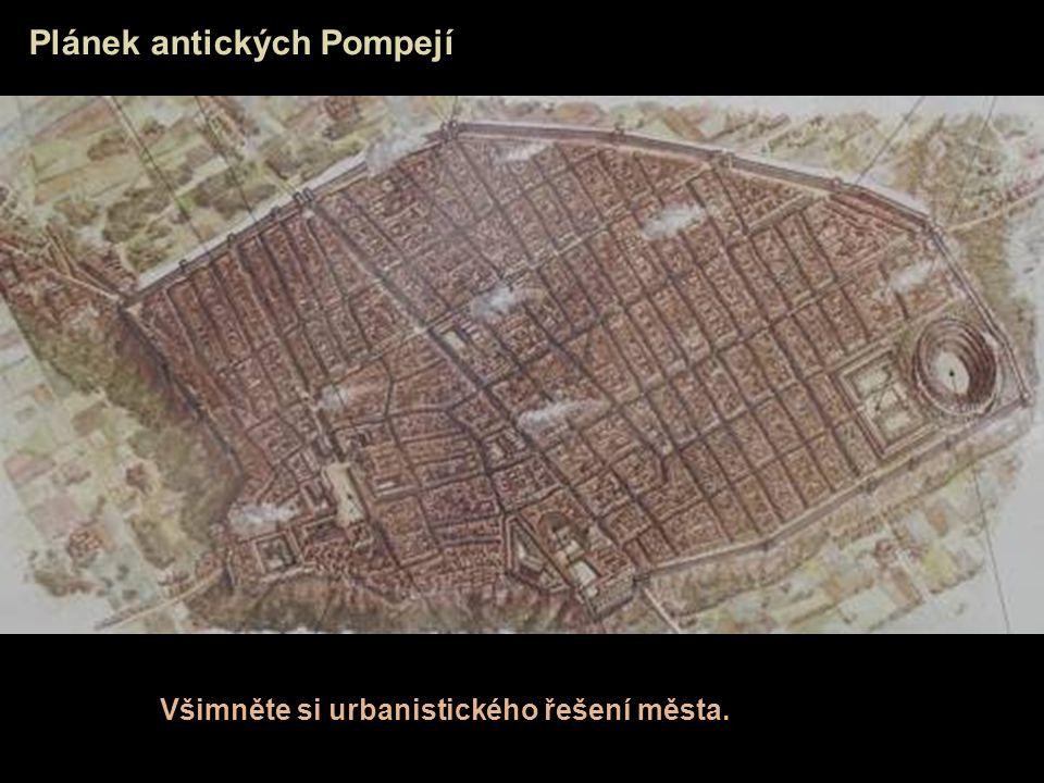 Plánek antických Pompejí