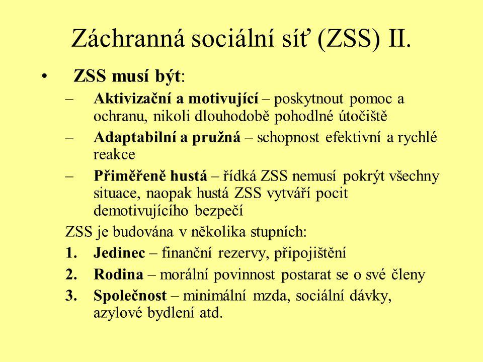 Záchranná sociální síť (ZSS) II.