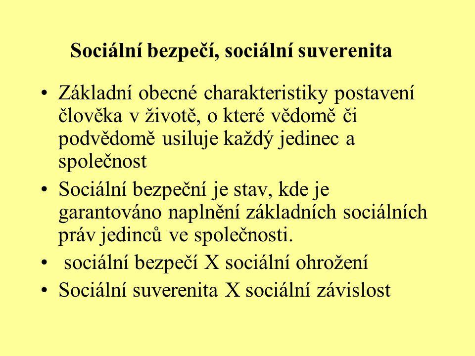Sociální bezpečí, sociální suverenita