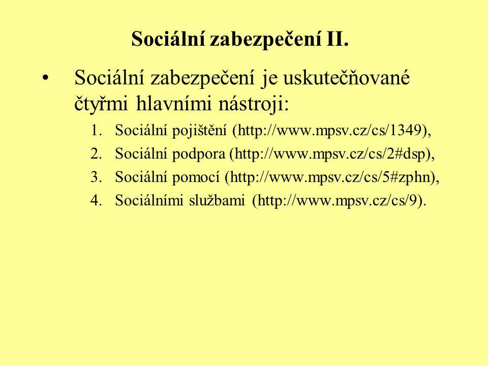 Sociální zabezpečení II.