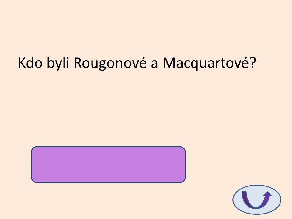 Kdo byli Rougonové a Macquartové