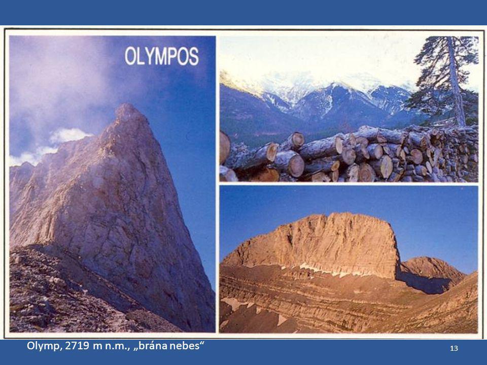 """Olymp, 2719 m n.m., """"brána nebes"""