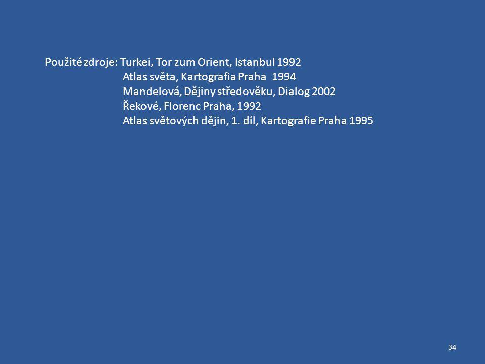 Použité zdroje: Turkei, Tor zum Orient, Istanbul 1992