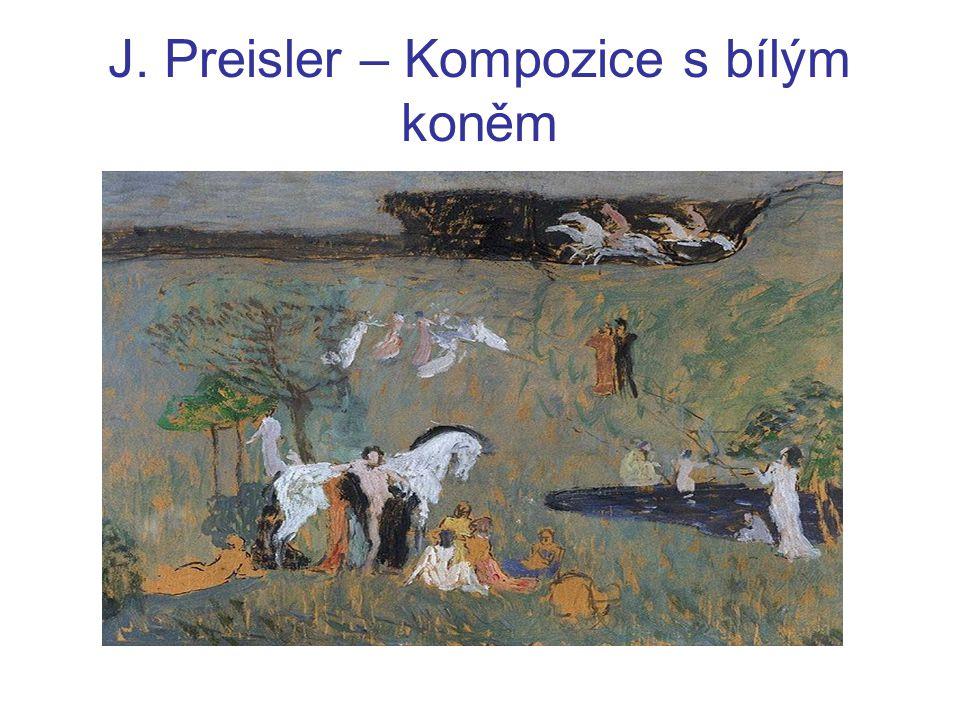 J. Preisler – Kompozice s bílým koněm