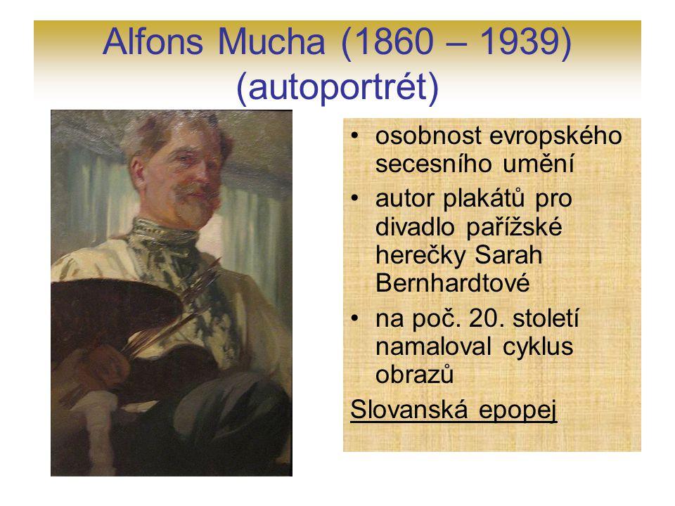 Alfons Mucha (1860 – 1939) (autoportrét)