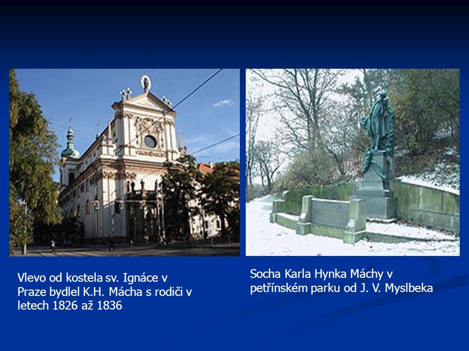 Socha Karla Hynka Máchy v petřínském parku od J. V. Myslbeka