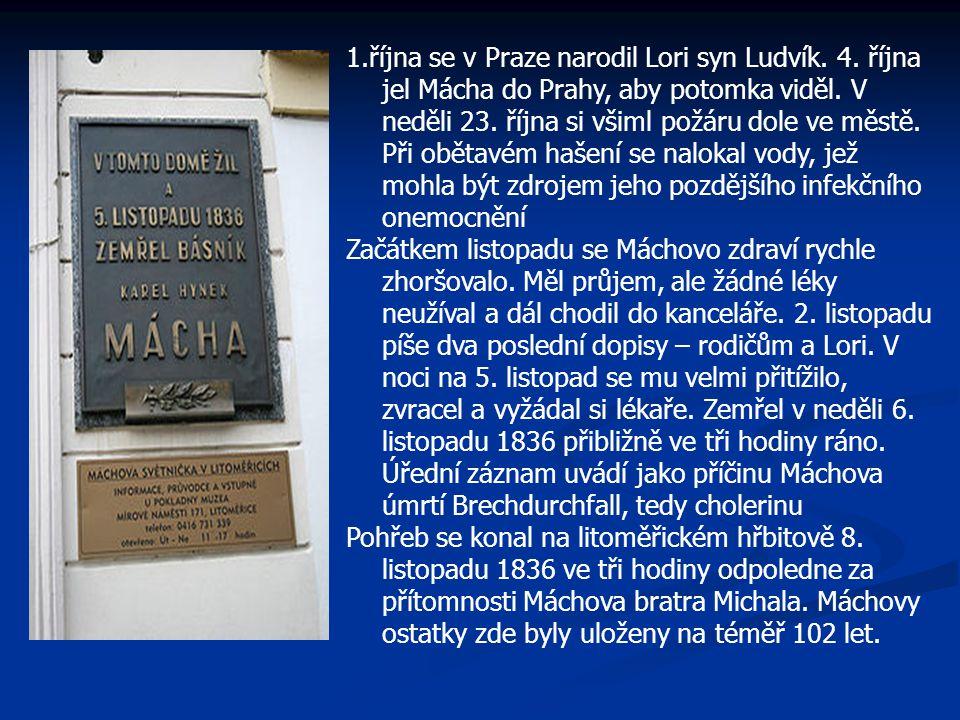 1. října se v Praze narodil Lori syn Ludvík. 4