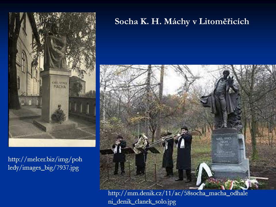 Socha K. H. Máchy v Litoměřicích