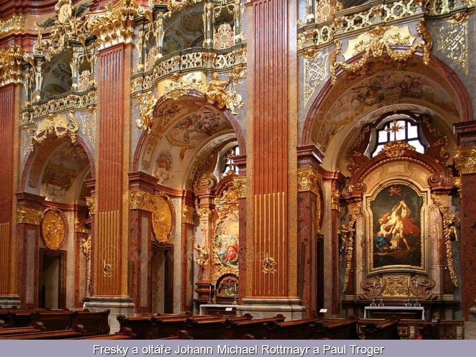 Fresky a oltáře Johann Michael Rottmayr a Paul Troger
