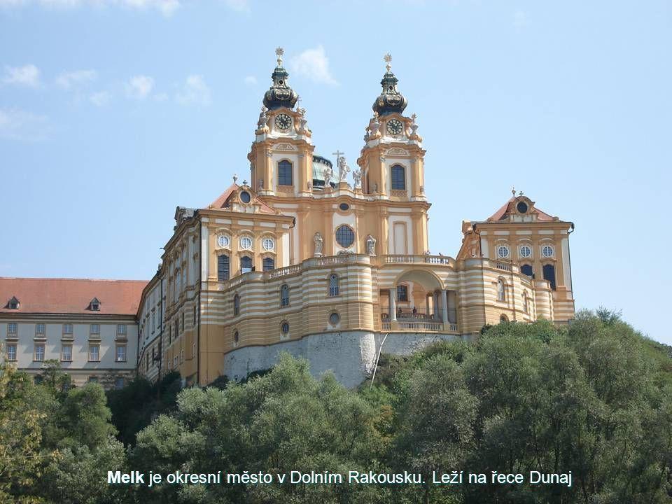 Melk je okresní město v Dolním Rakousku. Leží na řece Dunaj