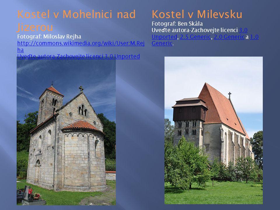 Kostel v Mohelnici nad Jizerou Kostel v Milevsku