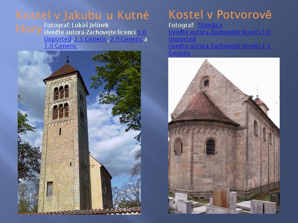 Kostel v Jakubu u Kutné Hory Kostel v Potvorově