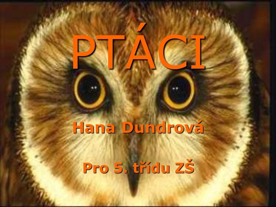 PTÁCI Hana Dundrová Pro 5. třídu ZŠ