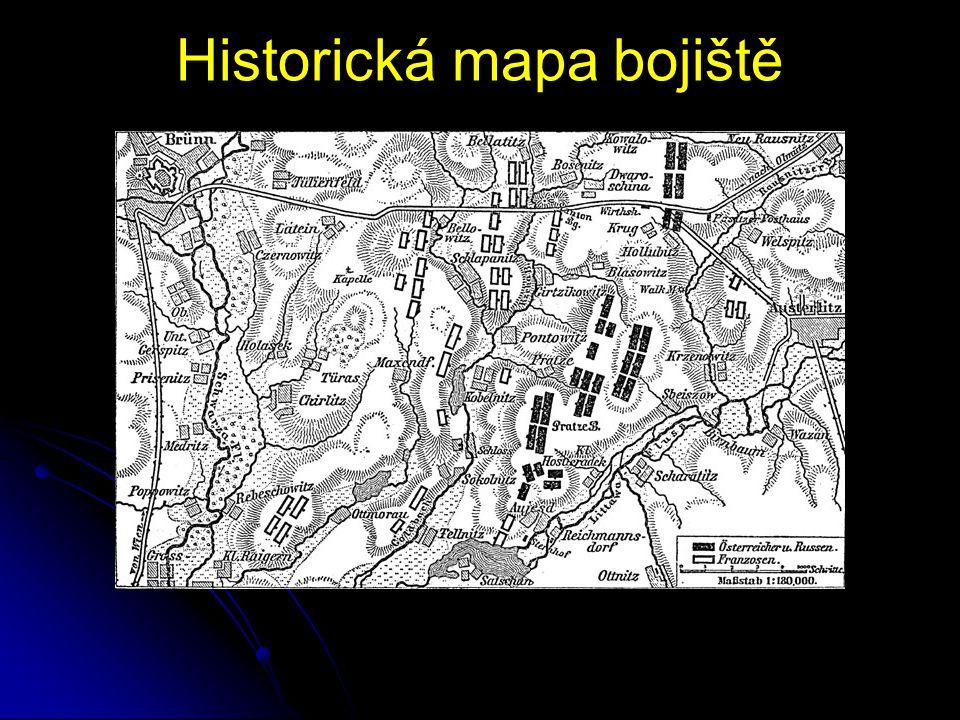 Historická mapa bojiště