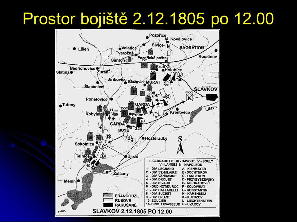 Prostor bojiště 2.12.1805 po 12.00