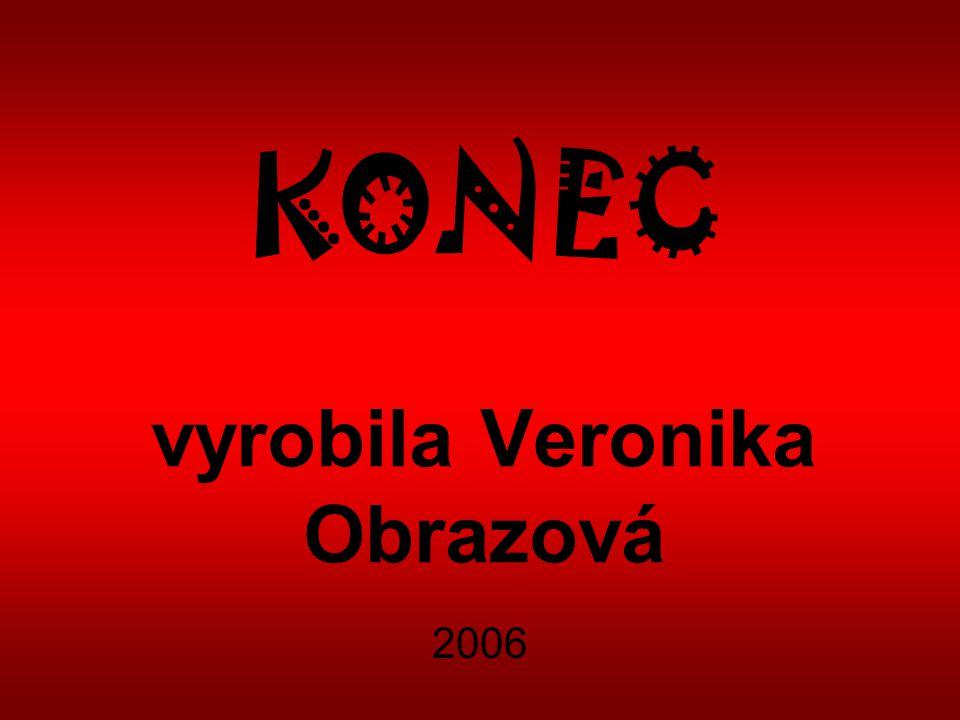 KONEC vyrobila Veronika Obrazová